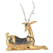 Thai Deer Facing Left Silver Plated Sculpture | 6017 | D'Argenta