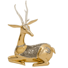 Thai Deer Facing Right Silver Plated Sculpture | 6019 | D'Argenta