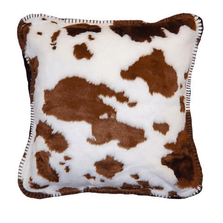 Cow Print Throw Pillow Brown | Denali | DHC35016018