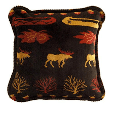 Black Denali Lake Moose Throw Pillow | Denali | DHC35006618