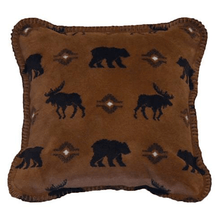 Bear and Moose Wilderness Walk Throw Pillow | Denali | DHC35022818