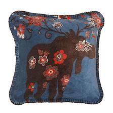Moose Blossom Blue Throw Pillow | Denali | DHC35007618