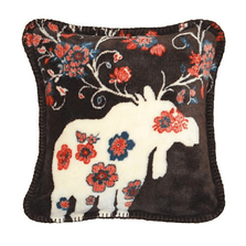 Moose Blossom Taupe Throw Pillow | Denali | DHC35022718
