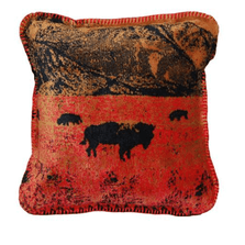 Roaming Buffalo Throw Pillow | Denali | DHC35084018