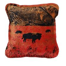 Roaming Buffalo Throw Pillow | Denali | DHC35084018