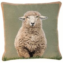 Sheep Standing Needlepoint Down Throw Pillow | Michaelian Home | MICNCU785