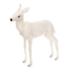 White Reindeer Baby Large Stuffed Animal | Plush Animal Statue | Hansa Toys | HTU5925