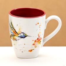 Hummingbird Stoneware Mug | Big Sky Carvers | B5050124