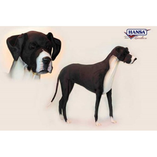 Great Dane Dog Giant Stuffed Animal | Plush Dog Statue | Hansa Toys | HTU6677