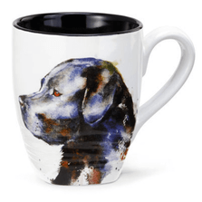 Black Lab Stoneware Mug | Big Sky Carvers Black Lab Mug | Dean Crouser