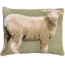 Sheep Baby Needlepoint Down Pillow | Michaelian Home | MICNCU787
