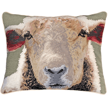 Sheep Face Needlepoint Down Pillow | Michaelian Home | MICNCU786