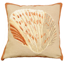 Atlantic Cockle Needlepoint Down Throw Pillow | Michaelian Home | MICNCU800
