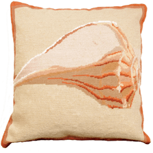 Whelk Shell Needlepoint Down Throw Pillow | Michaelian Home | MICNCU804