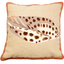Volute Shell Needlepoint Down Throw Pillow | Michaelian Home | MICNCU806