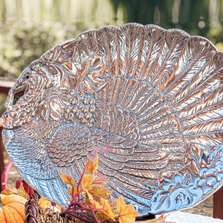 Turkey Holidays Oval Platter | Arthur Court Designs | 102324