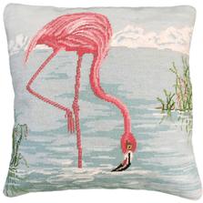 Pelican Needlepoint Down Throw Pillow | Michaelian Home | MICNCU823