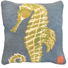 Seahorse Hooked Down Throw Pillow | Michaelian Home | MICNCU837
