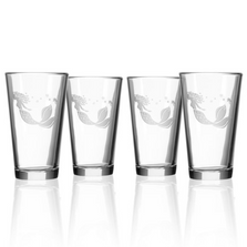 Mermaid Pint Beer Glass Set of 4 | Rolf Glass | 268071