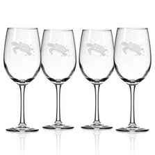 Sea Turtle White Wine Glass Set of 4 | Rolf Glass | 234427