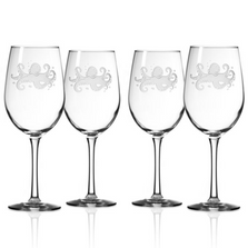 Octopus White Wine Glass Set of 4 | Rolf Glass | 238425