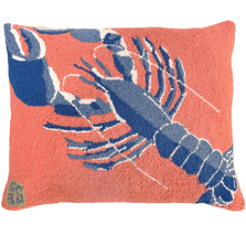 Rock Lobster Hooked Down Throw Pillow   Michaelian Home   MICNCU838