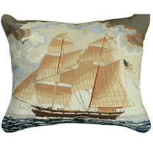 Brig Georgiana Mixed Stitch Down Throw Pillow | Michaelian Home | MICNCU441