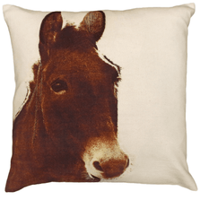"""Donkey Printed Down Throw Pillow """"Ely"""" 