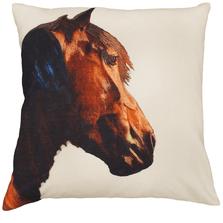 "Horse Printed Down Throw Pillow ""Shasta"" | Michaelian Home | MICNPE010"