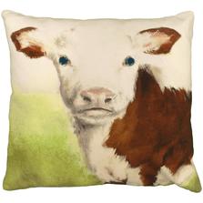"Cow Printed Down Throw Pillow ""Christine"" | Michaelian Home | MICNPE025"