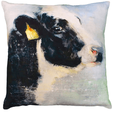 """Cow Printed Down Throw Pillow """"Chelsea"""" 