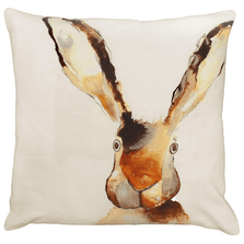 "Rabbit Printed Down Throw Pillow ""Briar"" | Michaelian Home | MICNPE028"