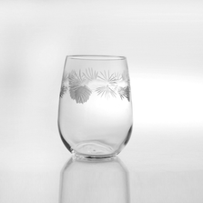 Icy Pine Stemless Wine Glass Set of 4 | Rolf Glass | ROL207339
