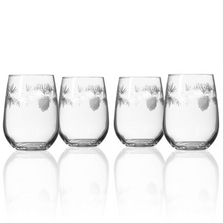 Icy Pine Stemless Wine Glass Set of 4 | Rolf Glass | 207339