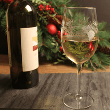 Icy Pine White Wine Glass Set of 4 | Rolf Glass | ROL207421
