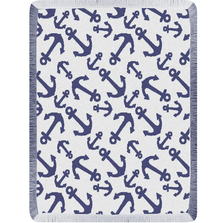 Anchor Rayon Throw Blanket | Manual Woodworkers | ATRANY