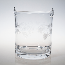 Icy Pine Engraved Glass Ice Bucket | Rolf Glass | ROL207193