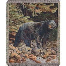 Bear Tapestry Throw Blanket | Leading the Way | Manual Woodworkers | ATLWBB