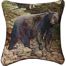 Bear Tapestry Throw Pillow | Leading the Way | Manual Woodworkers | TLLWBB