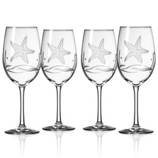 Starfish AP Large Wine Glass Set of 4 | Rolf Glass | 400266