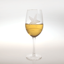 Starfish White Wine Glass Set of 4 | Rolf Glass | 400426
