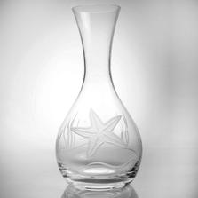 Starfish Engraved Glass Carafe | Rolf Glass | ROL400709 -2