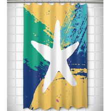 Bimini Starfish Shower Curtain | Island Girl Home | SC153 -2