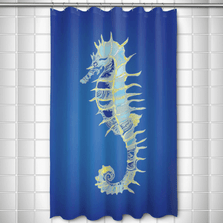 Bimini Seahorse Shower Curtain | Island Girl Home | SC292