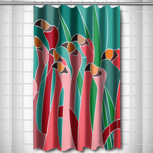 Flamingo Walk Shower Curtain | Island Girl Home | SC49 -2