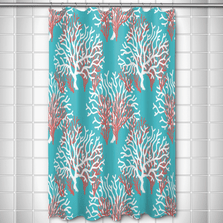 Coral Shower Curtain Nassau | Island Girl Home | SC189