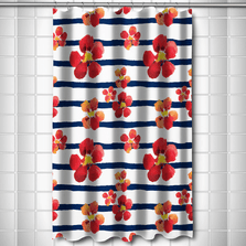 Nasturtiums Shower Curtain | Island Girl Home | SC113 -2