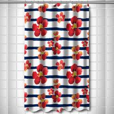 Nasturtiums Shower Curtain | Island Girl Home | SC113 -2