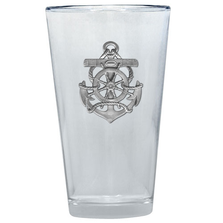 Anchor Pint Glass Set of 2 | Heritage Pewter | PNT4135