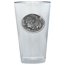 Buffalo Pint Glass Set of 2 | Heritage Pewter | PNT401